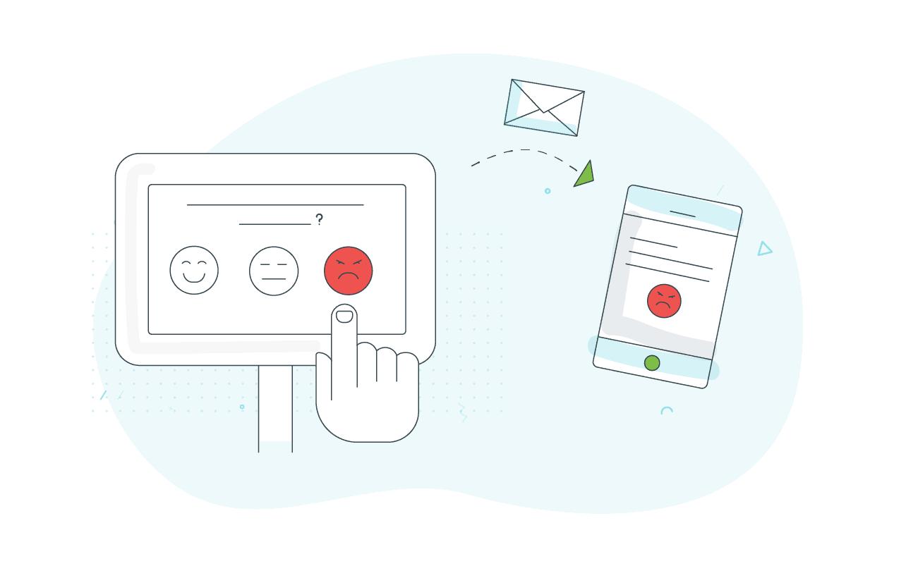 Negative feedback alerts illustration