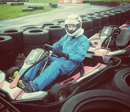 Tom in a Go Kart