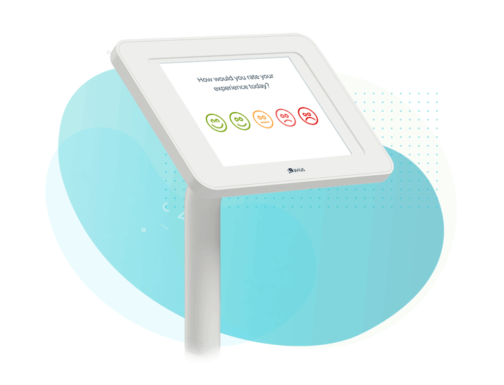 Survey Kiosk with a rating question displayed
