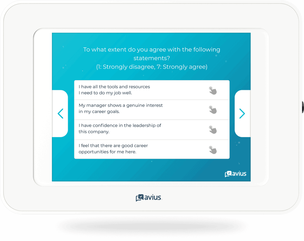 Example of a Likert survey question
