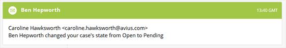 Optimus case notification