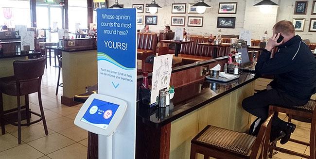 survey kiosk in a pub