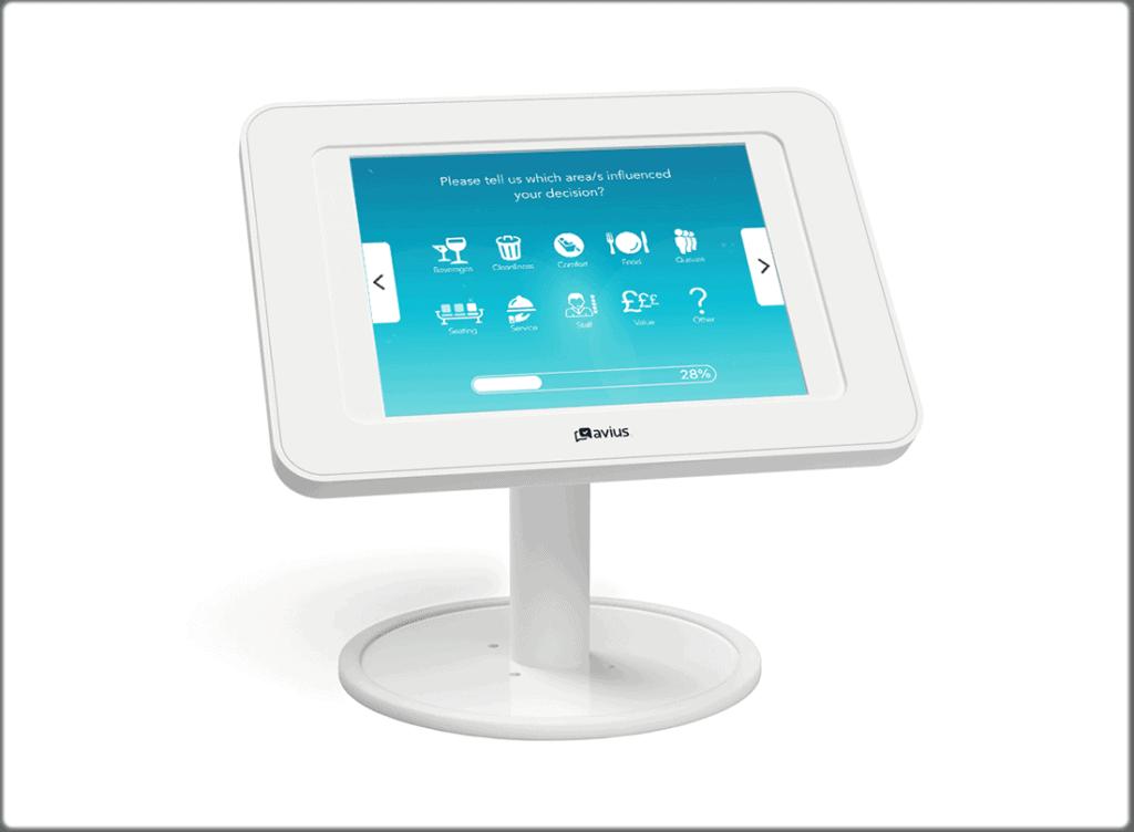 Desktop survey kiosk