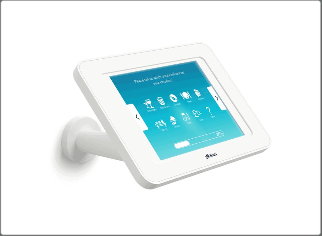 Survey kiosks - wall-mounted