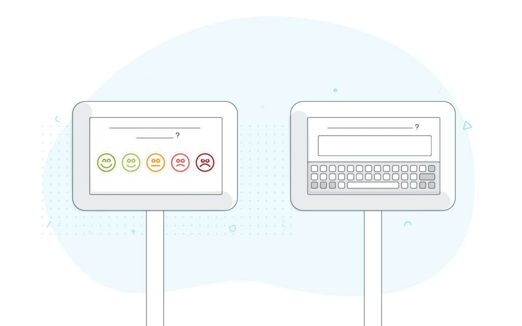 Two types of feedback illustration