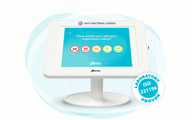 Illustration of Avius' anti-bacterial survey screen protection