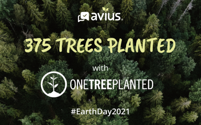 375 trees planted with One Tree Planted for Earth Day 2021