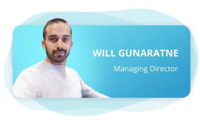 Will Gunaratne, Avius Managing Director and co-founder