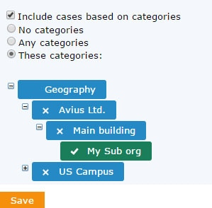 include cases based on categories
